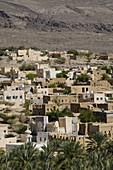 OMAN-Western Hajar Mountains-Al Hamra: Town View