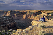 Looking over Trail Canyon from atop Aztec Butte, Island in the Sky District, Canyonlands National Park, Utah, USA