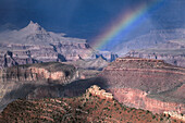 Rainbow over the Grand Canyon from Grandview Point, South Rim Grand Canyon National Park, Arizona, USA
