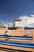 Old Outdoor Picture Theatre, Oodnadatta, Oodnadatta Track, Outback, South Australia, Australia