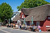 Cafe in Nebel, Amrum Island, North Frisian Islands, Schleswig-Holstein, Germany