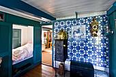 Captains Room atÖömrang Hus, Nebel, Amrum Island, North Frisian Islands, Schleswig-Holstein, Germany