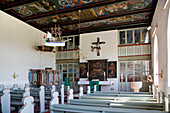 Interior View, Holm church, Hallig Langeness, North Frisian Islands, Schleswig-Holstein, Germany