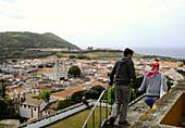View from Alto da Memoria, Angra do Heroismo, Terceira Island, Azores, Portugal