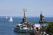 Imperia at the entrance of the harbour, Constance, Baden-Wurttemberg, Germany