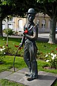 Statue of Charlie Chaplin, Vevey, Canton of Vaud, Switzerland