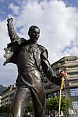 Statue of Freddy Mercury at promenade, Montreux, Canton of Vaud, Switzerland