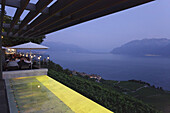 Restaurant La Deck, Hotel Baron Tavernier, Chexbres, Lavaux, Canton Vaud, Switzerland