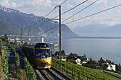 GoldenPass Panoramic train, Montreux, Canton Vaud, Switzerland