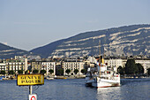 Excursion boat on Lake Geneva, Geneva, Canton of Geneva, Switzerland