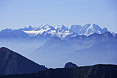 View from Rochers de Naye to Dents Du Midi, Montreux, Canton of Vaud, Switzerland
