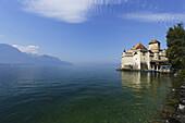 Chillon Castle at Lake Geneva, Veytaux, Vaud, Switzerland