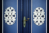 Door of a frisian house in Nieblum, Foehr island, Schleswig-Holstein, Germany