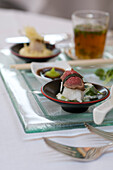 Asiatic appetizers, Restaurant Villino, Lindau, Lake Constance, Germany