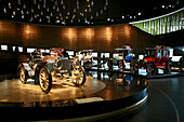 Vintage Cars at Mercedes Benz Museum at Bad Cannstadt, Stuttgart, Baden-Wurttemberg, Germany