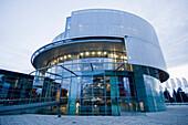 The Audi Museum, Round building, Ingolstadt, Bavaria, Germany