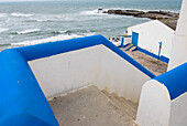 Steps leading down to the beach, historical, old fishing village Ericeira, Portugal, Atlantic