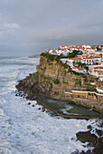 Seaside town, Azenhas do Mar, overlooking the sea, Atlantic Ocean, Costa de Lisboa, Lisbon District, Estremadura, Portugal