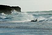 Kitesurfer on Guincho Beach, Costa de Lisboa, Lisbon District, Estremadura, Portugal