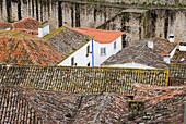 Town of Obidos with fortification walls, Obidos, Leiria, Estremadura, Portugal