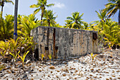 Old Bunker for Observation of Nuclear Weapons Test, Marshall Islands, Bikini Atoll, Micronesia, Pacific Ocean