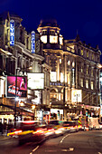 West End Theatres at night, Shaftsbury Avenue, West End, London, England, Great Britain, United Kingdom
