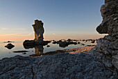 Limestone columns, Raukar, near Lauter, North West Coast, Faro, Gotland, Sweden, Scandinavia, Europe