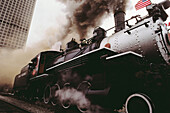 Steam locomotive. Vancouver, British Columbia, Canada