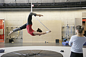 Canada, Montreal, National Circus School, gymnastics, practice, acrobatic skills, student, instructor, female