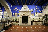 Hall of the 'Cau Ferrat', Santiago Rusinyol's house-museum. Sitges, Barcelona province, Catalonia, Spain