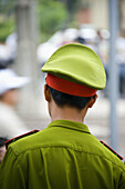 A Police in uniform on the streets of Saigon, Ho Chi Minh City, Vietnam