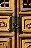 Doors with intricate wood work, Kunming, Yunnan, China