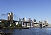 Brooklyn Bridge over the East River, Manhattan, New York City, New York, USA