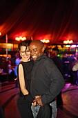 Paar tanzt Salsa, Pier 17, Manhattan, New York City, New York, USA