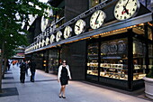 Uhrengeschäft, Madison Avenue, Manhattan, New York City, New York, USA