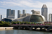 Singapore Convention Center and Hotels, Esplanade theatre in the foreground, Singapore, Asia