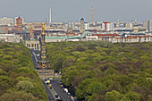 Victory Column, 17th June Street, Tiergarten, Berlin, Germany