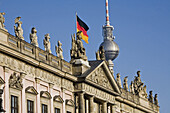 German Historical Museum, Zeughaus, television tower in background, Berlin, Germany