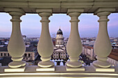 View to French Cathedral, Gendarmenmarkt, Berlin, Germany