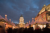Christmas market, Gendarmenmarkt, at night, Berlin, Germany