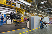 Motorcycle production line BMW Spandau Berlin, Germany