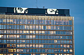 Axel Springer publishing house, built as the Berlin wall was being built, Berlin, Germany
