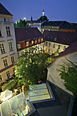 courtyard of Kunst Werke, Institute for Contemporary Art, Auguststraße, roofscape, Berlin, Germany