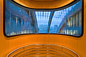 inside the elevator of the Ludwig-Erhard-Haus. The building is located on Fasanenstraße, a chamber of commerce, Berlin, Germany