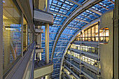 atrium, Ludwig Erhard Haus, a chamber of commerce, Berlin, Germany