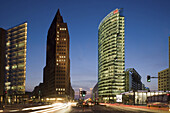 Potsdamer Platz in the evening, Berlin, Germany