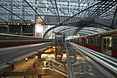 Inside central station, Berlin, Germany