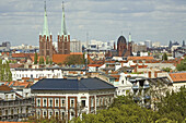 Cityscape with church Saint Boniface and Holy Cross Church, Kreuzberg, Berlin, Germany