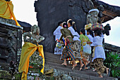 People climbing stairs at balinese main temple Besakih, Bali, Indonesia, Asia