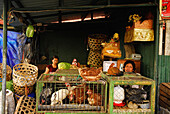 Vendors at their stalls at the Central market Pasar Badung, Denpasar, Bali, Indonesia, Asia